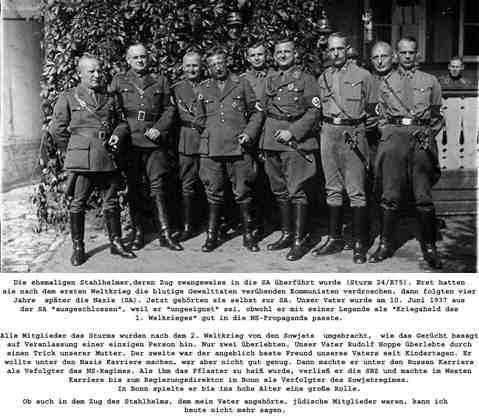 Gruppenbild der ehemalige Stahlhelmern