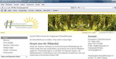Zur Homepage der Hospizgruppe Felsberg/Melsungen